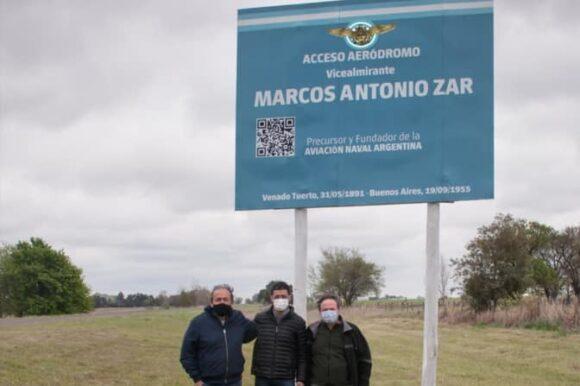 Acceso al Aeródromo rescata la historia del vicealmirante Marcos Zar