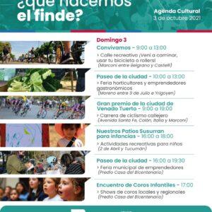¿Qué hacemos el finde? El Gobierno de Venado Tuerto invita a disfrutar de la agenda cultural de la ciudad