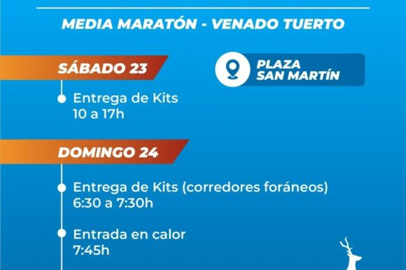 Todo preparado para la Media Maratón Venado Tuerto