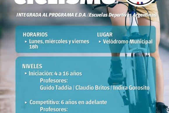 Un espacio de formación para los futuros ciclistas de la ciudad