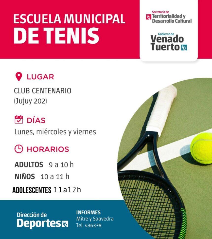"""Escuela Municipal de Tenis: el """"deporte blanco"""" tiene un espacio gratuito y para todas las edades"""