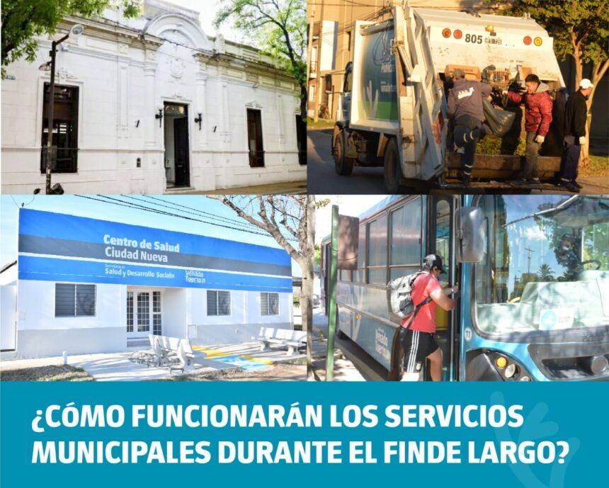 ¿Cómo funcionarán los servicios municipales durante el fin de semana largo?