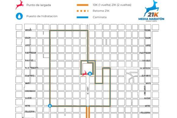 La Media Maratón 21K Venado Tuerto ya tiene definido su circuito