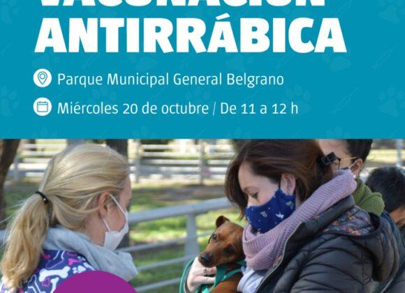 Salud animal: nueva jornada de vacunación antirrábica en el Parque Municipal
